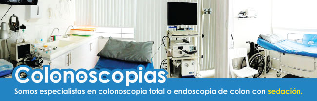 Colonoscopia total con sedación