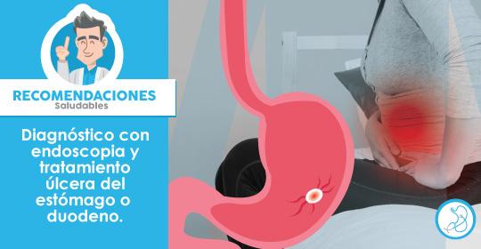 Úlcera gástrica o duodeno, diagnóstico y tratamiento con endoscopia en Bogotá